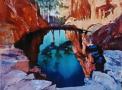 Painting - Kimberley Ponds by Kathy  Karas