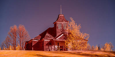 Old School House Photograph - Kimberly School House Infrared False Color by Paul Freidlund