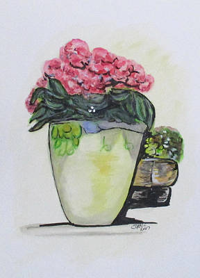 Painting - Kimberly's Castellabate Flower Pot by Clyde J Kell