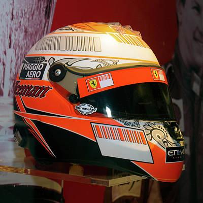Photograph - Kimi Raikkonen 2009 Helmet Museo Ferrari by Paul Fearn