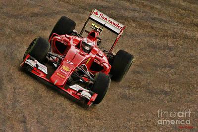 Photograph - Kimi Raikkonen 2015 Ferrari by Blake Richards