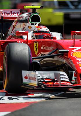 Sauber Photograph - Kimi Raikkonen Ferrari  by Srdjan Petrovic