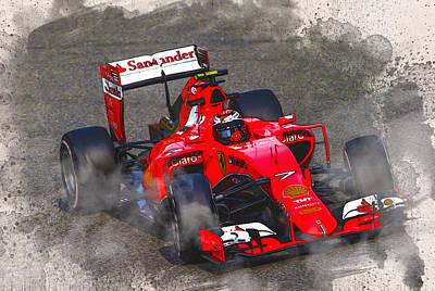 Kimi Raikkonen Of Finland And Ferrari Original
