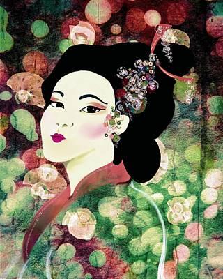Kimono Autumn Art Print by Sand And Chi