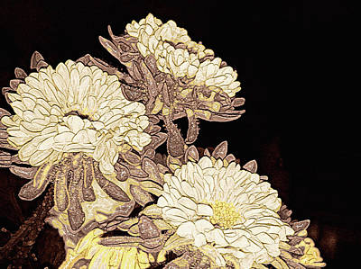 Interior Still Life Mixed Media - Kimono Garden by Susan Maxwell Schmidt