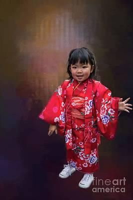 Photograph - Kimono Girl-2 by Eva Lechner