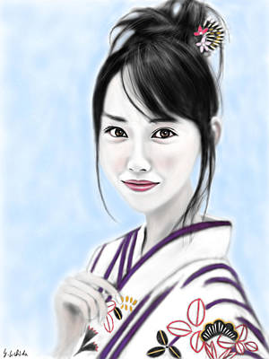 Kimono Girl No.10 Art Print by Yoshiyuki Uchida