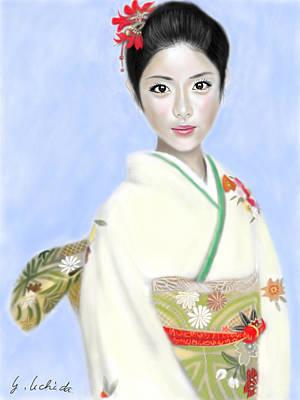 Kimono Girl No.2 Art Print by Yoshiyuki Uchida