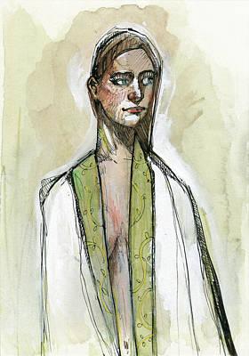 Kimono In Sage Print by Rob Tokarz