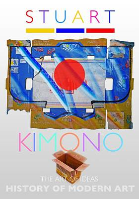 Abstract Painting - Kimono Poster by Charles Stuart