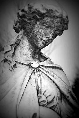 Woman In Cemetary Photograph - Kind Whispers by Renae Sears