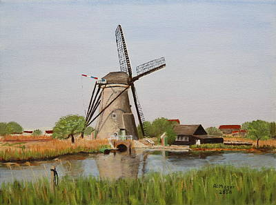 Painting - Kinderdijk Classic by Alan Mager