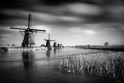 Winter Netherlands Photograph - Kinderdijk by Dave Bowman