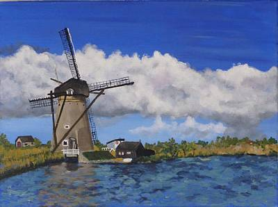 Painting - Kinderdijk by Diane Arlitt