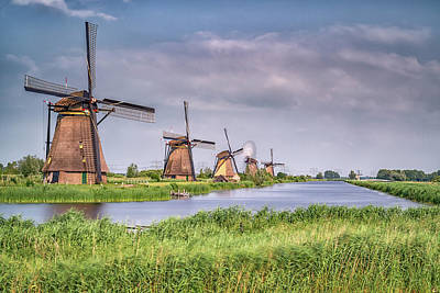 Photograph - Kinderdijk Windmills 2 by Framing Places