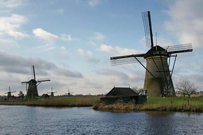 Photograph - Kinderdijk Windmills by Brandy Herren
