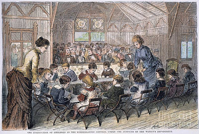 Kindergarten Cottage, 1876 Art Print by Granger