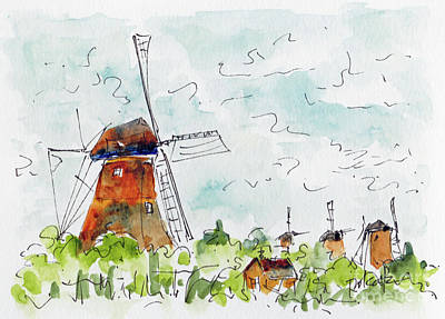 Painting - Kindersdijk Netherlands by Pat Katz