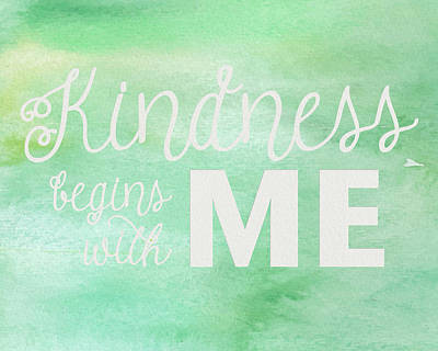 Photograph - Kindness Begins With Me Green by Emily Smith