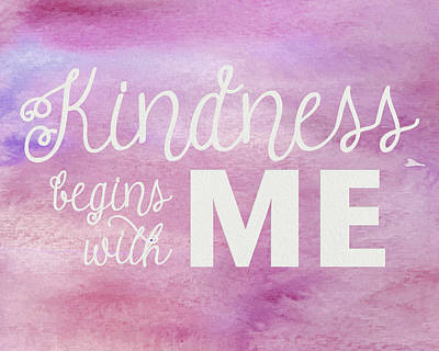 Photograph - Kindness Begins With Me Pink by Emily Smith
