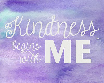 Photograph - Kindness Begins With Me Purple by Emily Smith