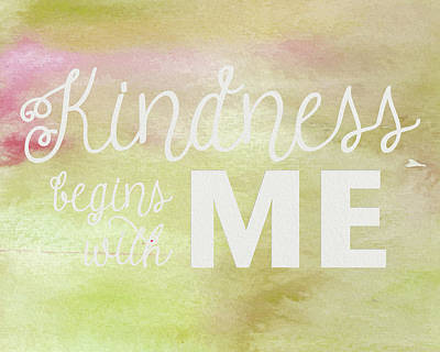 Photograph - Kindness Begins With Me Yellow by Emily Smith