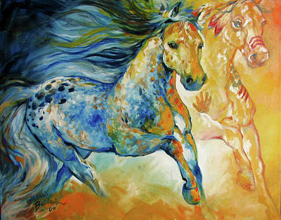 Horses Painting - Kindred Spirits  by Marcia Baldwin