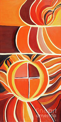 Painting - Kindred Spirit - Orange by Ida Mitchell