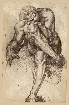 Drawing - King Amycus Of Bebryces by Henry Fuseli