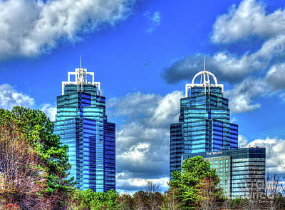 Photograph - Concourse Buildings King And Queen Architecture Atlanta Royalty Art by Reid Callaway