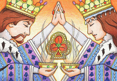 King And Queen Of Clubs Art Print by Amy S Turner