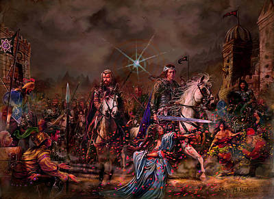 Print featuring the painting King Arthur Returns by Steve Roberts