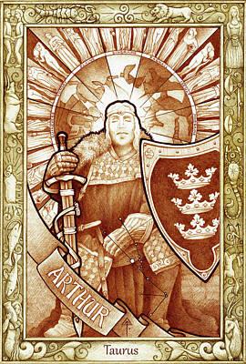 Drawing - King Arthur by Yuri Leitch