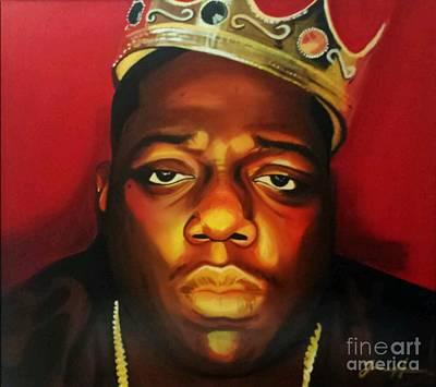 Christopher Wallace Painting - King Big by Jason Majiq Holmes
