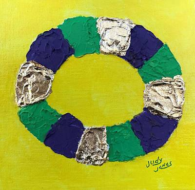 Mardi Gras Painting - King Cake by Judy Jones