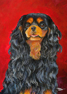 Painting - King Charles Cavalier Spaniel by Terry Albert