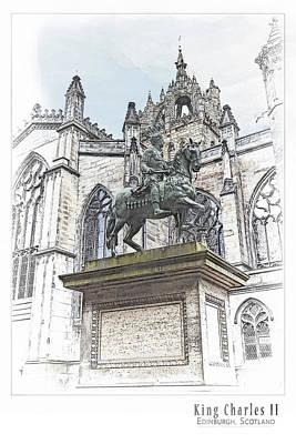 St Charles Digital Art - King Charles II by AGeekonaBike Photography