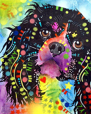 Dog Art Painting - King Charles Spaniel by Dean Russo