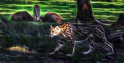 Photograph - King Cheetah And 3 Cubs by Miroslava Jurcik