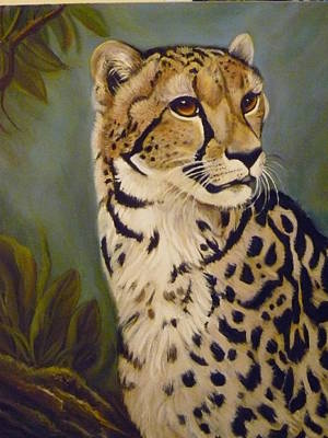 Painting - King Cheetah by Janet Silkoff
