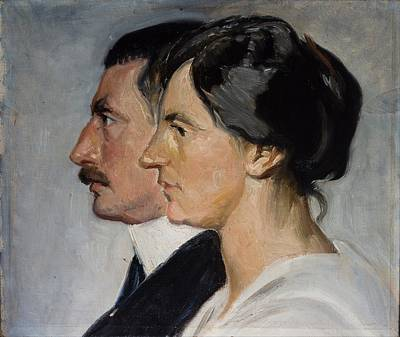King Painting - King Christian X And Queen Alexandrine Of Denmark By Michael Ancher, 1915 by Celestial Images