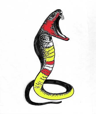 Cobra Mixed Media - King Cobra by Al Pascucci