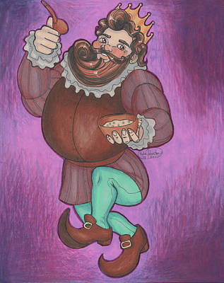 Old King Cole Drawing - King Cole by Kylie Johnston