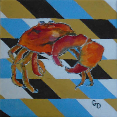 Painting - King Crab by Georgia Donovan