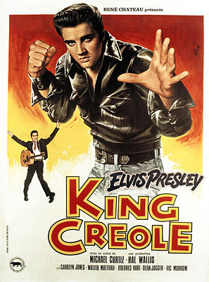 1950s Movies Photograph - King Creole, Elvis Presley, 1958 by Everett