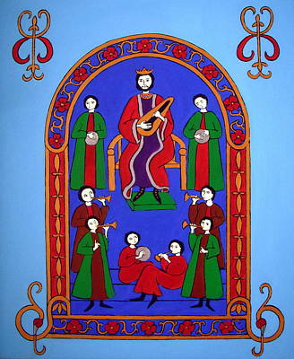Painting - King David And His Musicians by Stephanie Moore