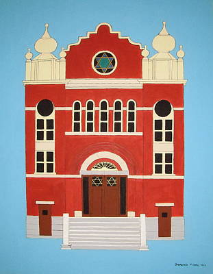 Painting - King Edward Street Shul by Stephanie Moore