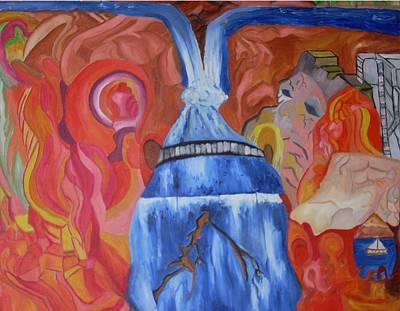 King Falls Art Print by Joseph  Arico
