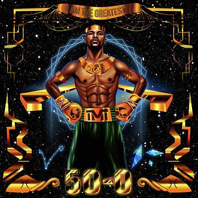 Floyd Mayweather Jr Digital Art - King Floyd Mayweather by Kenal Louis
