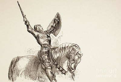 Stallion Drawing - King Henry Iv, Part One, 1890  by English School